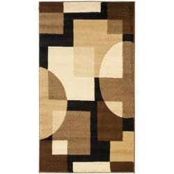 Safavieh Porcello Modern Abstract Brown/ Multi Rug (2' x 3'7)