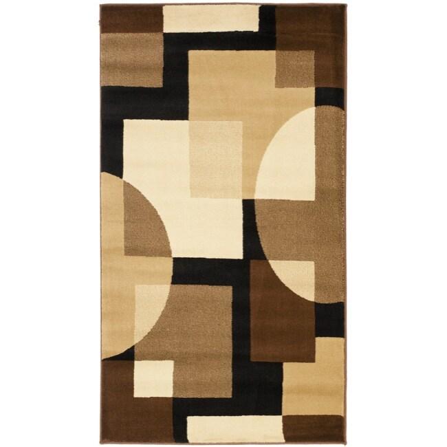 Safavieh Porcello Modern Abstract Brown/ Multi Rug (2'7 x 5')