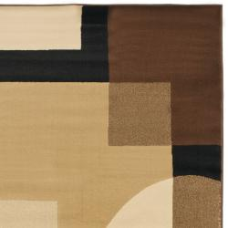 Safavieh Porcello Modern Abstract Brown/ Multi Rug (4' x 5'7) - Thumbnail 1