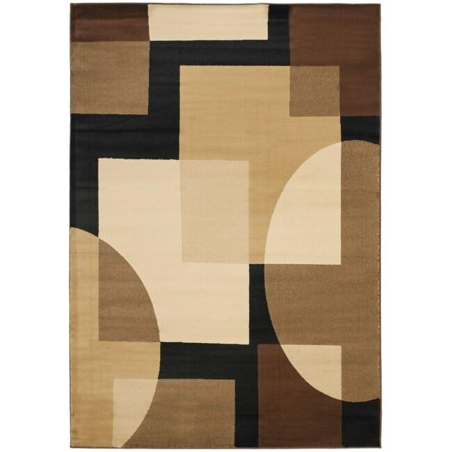 Safavieh Porcello Modern Abstract Brown/ Multi Rug (6'7 x 9'6)