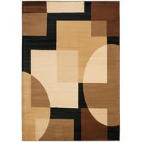 "Safavieh Porcello Modern Abstract Brown/ Multi Rug - 6'7"" x 9'6"""