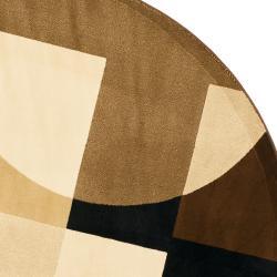 Safavieh Porcello Modern Abstract Brown Multi Rug 7