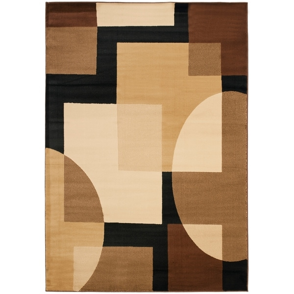 Safavieh Porcello Modern Abstract Brown/ Multi Rug - 8' x 11'-2""