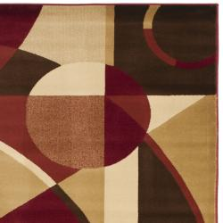 Safavieh Porcello Modern Abstract Red/ Beige Area Rug (8' x 11'2) - Thumbnail 1