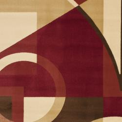 Safavieh Porcello Modern Abstract Red/ Beige Area Rug (8' x 11'2) - Thumbnail 2