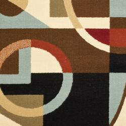 Safavieh Porcello Modern Abstract Black Rug (2' x 3'7)