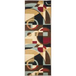 Safavieh Porcello Modern Abstract Black/ Blue Rug (2'4 x 9')