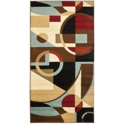 Safavieh Porcello Modern Abstract Black/ Blue Rug (2'7 x 5')