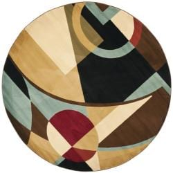 Safavieh Porcello Modern Abstract Black Rug (7' Round)