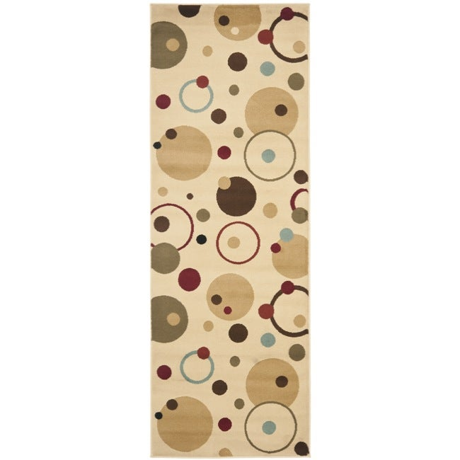 Safavieh Porcello Modern Cosmos Ivory/ Multi Runner Rug (2'4 x 9')