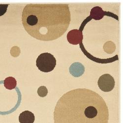 Safavieh Porcello Modern Cosmos Ivory/ Multi Runner Rug (2'4 x 9') - Thumbnail 1