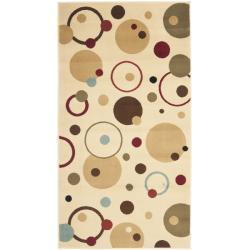 Safavieh Porcello Modern Cosmos Ivory/ Multi Rug - 2'7 x 5' - Thumbnail 0