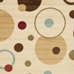 Safavieh Porcello Modern Cosmos Ivory/ Multi Rug (6'7 x 9'6) - Thumbnail 2