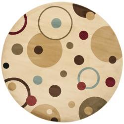 Safavieh Porcello Modern Cosmos Ivory/ Multi Rug (7' Round)