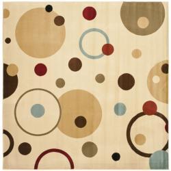 Safavieh Porcello Modern Cosmos Ivory/ Multi Rug (7' Square)