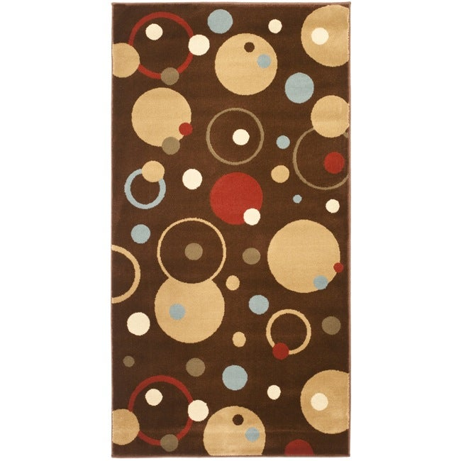 Safavieh Porcello Modern Cosmos Brown/ Multi Rug (2' x 3'7)