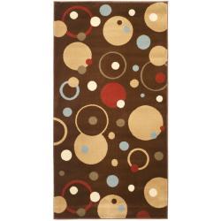 "Safavieh Porcello Modern Cosmos Brown/ Multi Rug - 2' x 3'-7"" - Thumbnail 0"