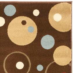 Safavieh Porcello Modern Cosmos Brown/ Multi Rug (2'7 x 5') - Thumbnail 1