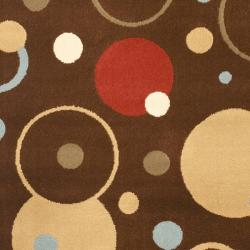 Safavieh Porcello Modern Cosmos Brown/ Multi Rug (2'7 x 5') - Thumbnail 2