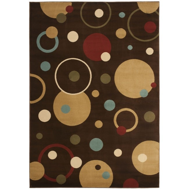 Safavieh Porcello Modern Cosmos Brown/ Multi Rug (4' x 5'7)