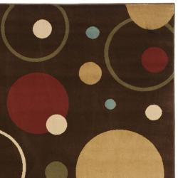 Safavieh Porcello Modern Cosmos Brown/ Multi Rug (4' x 5'7) - Thumbnail 1