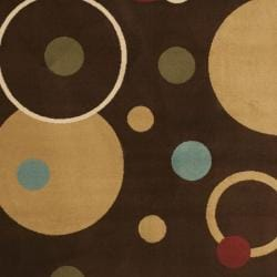Safavieh Porcello Modern Cosmos Brown/ Multi Rug (4' x 5'7) - Thumbnail 2