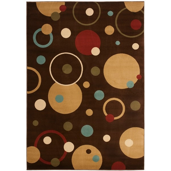 "Safavieh Porcello Modern Cosmos Brown/ Multi Rug - 5'-3"" x 7'-7"""