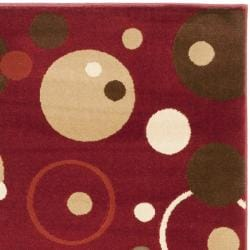 Safavieh Porcello Modern Cosmos Red/ Multi Rug (2' x 3'7) - Thumbnail 1
