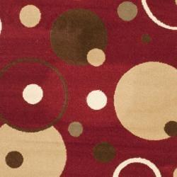 Safavieh Porcello Modern Cosmos Red/ Multi Rug (2' x 3'7) - Thumbnail 2