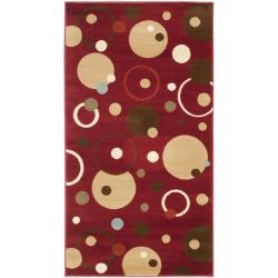Safavieh Porcello Modern Cosmos Red/ Multi Rug (2' x 3'7)