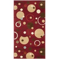 Safavieh Porcello Modern Cosmos Red/ Multi Rug (2' x 3'7) - 2' x 3'7