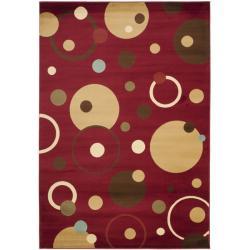 Safavieh Porcello Modern Cosmos Red/ Multi Rug (5'3 x 7'7)
