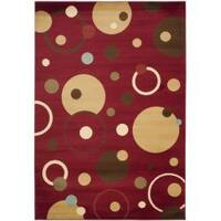 Safavieh Porcello Modern Cosmos Red/ Multi Rug - 5'3 x 7'7