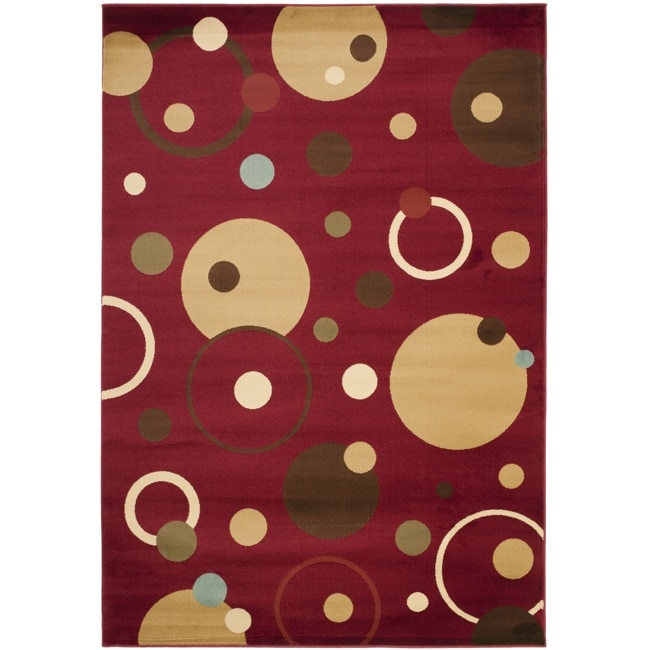 Safavieh Porcello Modern Cosmos Red/ Multi Rug (8' x 11'2)