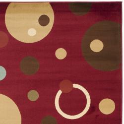 Safavieh Porcello Modern Cosmos Red Rug (8' x 11'2) - Thumbnail 1