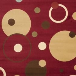 Safavieh Porcello Modern Cosmos Red Rug (8' x 11'2) - Thumbnail 2