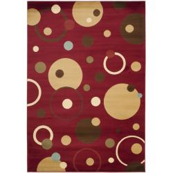 Safavieh Porcello Modern Cosmos Red/ Multi Rug (8' x 11'2) - 8' x 11'2 - Thumbnail 0