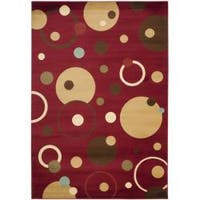 Safavieh Porcello Modern Cosmos Red/ Multi Rug - 8' x 11'2
