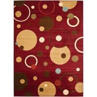 "Safavieh Porcello Modern Cosmos Red/ Multi Rug - 8' x 11'2"""