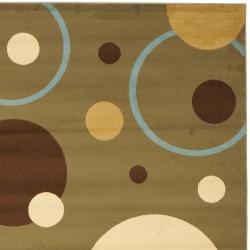 Safavieh Porcello Modern Cosmos Green/ Multi Rug (4' x 5'7) - Thumbnail 1