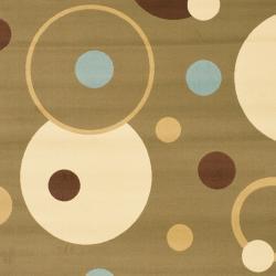 Safavieh Porcello Modern Cosmos Green/ Multi Rug (4' x 5'7) - Thumbnail 2