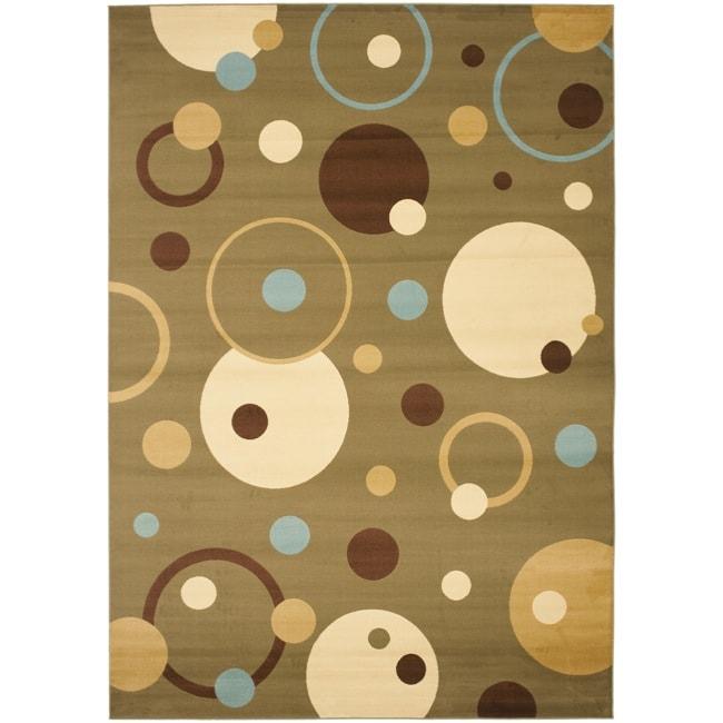 Safavieh Porcello Modern Cosmos Green/ Multi Rug - 8' x 11'2