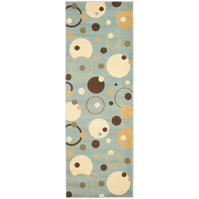 Safavieh Porcello Modern Cosmos Blue/ Multi Runner Rug (2'4 x 6'7)