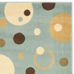 Safavieh Porcello Modern Cosmos Blue/ Multi Runner Rug (2'4 x 6'7) - Thumbnail 1