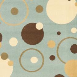 Safavieh Porcello Modern Cosmos Blue/ Multi Runner Rug (2'4 x 6'7) - Thumbnail 2
