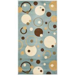 Safavieh Porcello Modern Cosmos Blue/ Multi Rug - 2'7 x 5' - Thumbnail 0