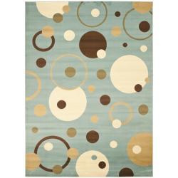 Safavieh Porcello Modern Cosmos Blue/ Multi Rug (4' x 5'7)