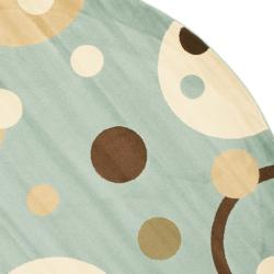 Safavieh Porcello Modern Cosmos Blue/ Multi Rug (7' Round) - Thumbnail 1