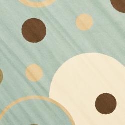 Safavieh Porcello Modern Cosmos Blue/ Multi Rug (7' Round) - Thumbnail 2