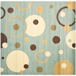 Safavieh Porcello Modern Cosmos Blue/ Multi Rug (7' Square)